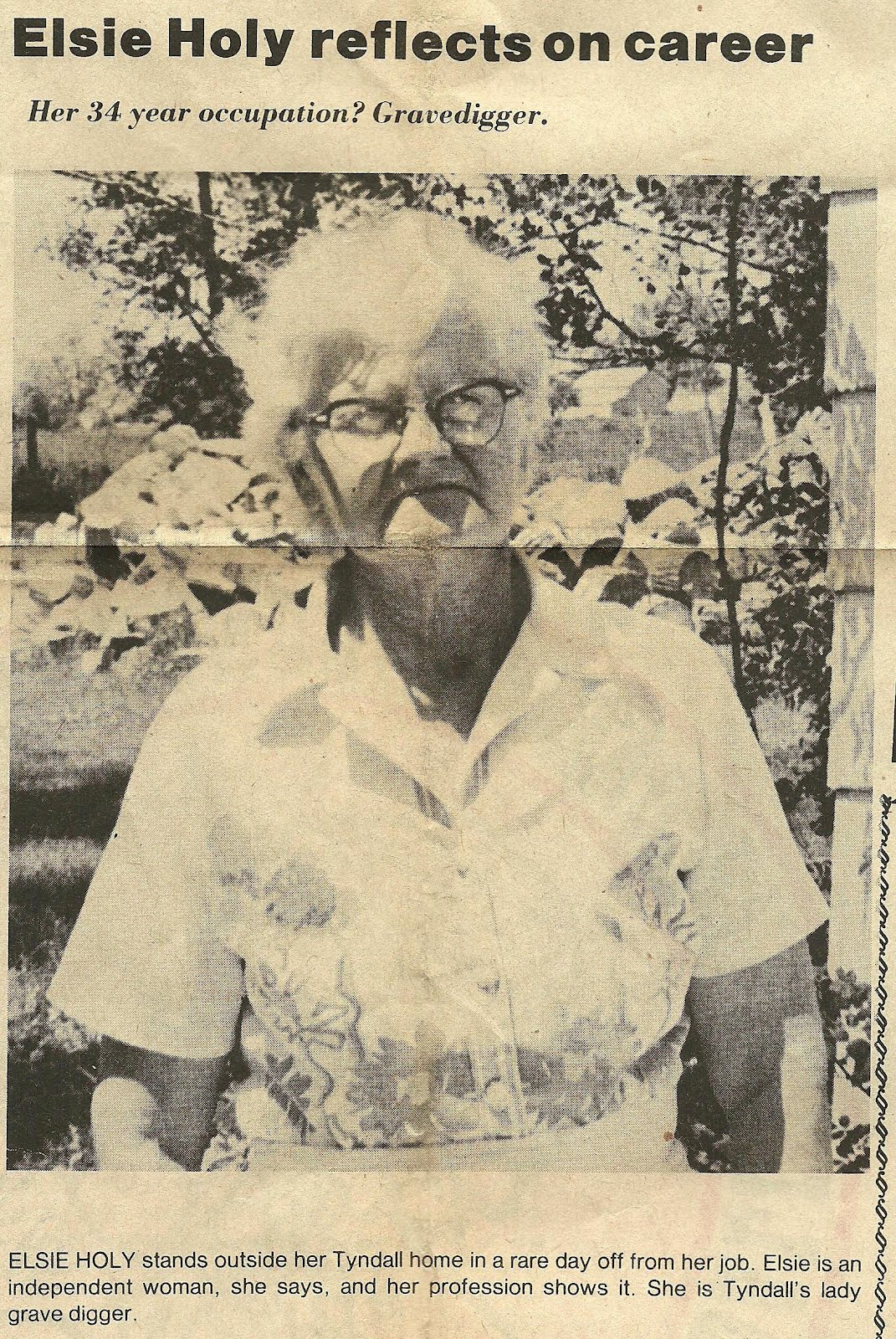 South dakota meade county howes - Her 34 Year Occupation Gravedigger